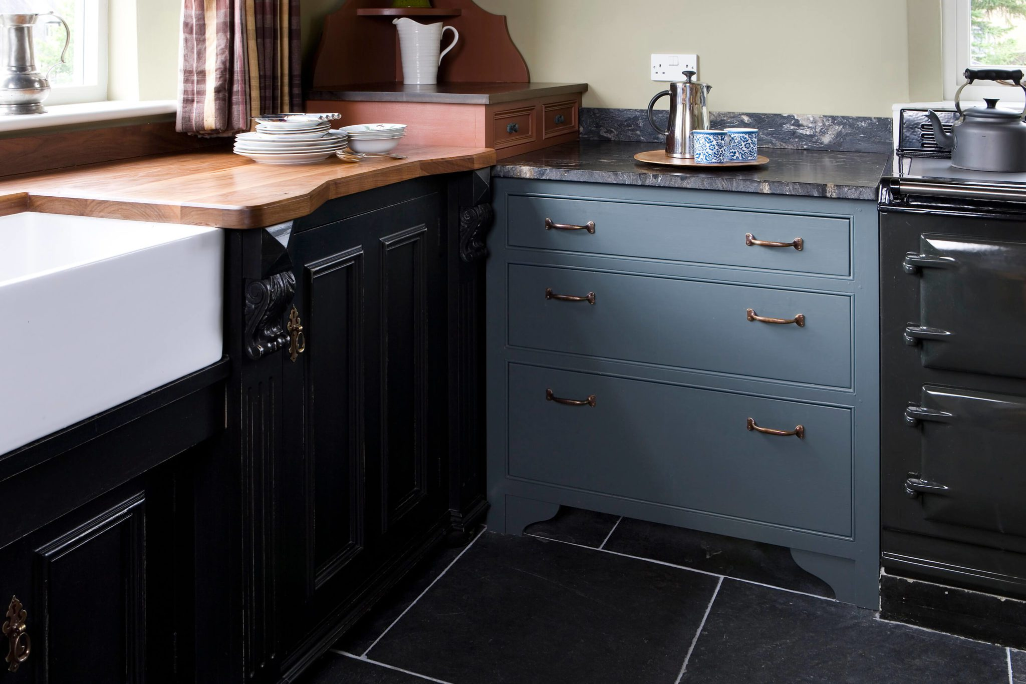 Contrasting Kitchen Furniture - Hill Farm Furniture