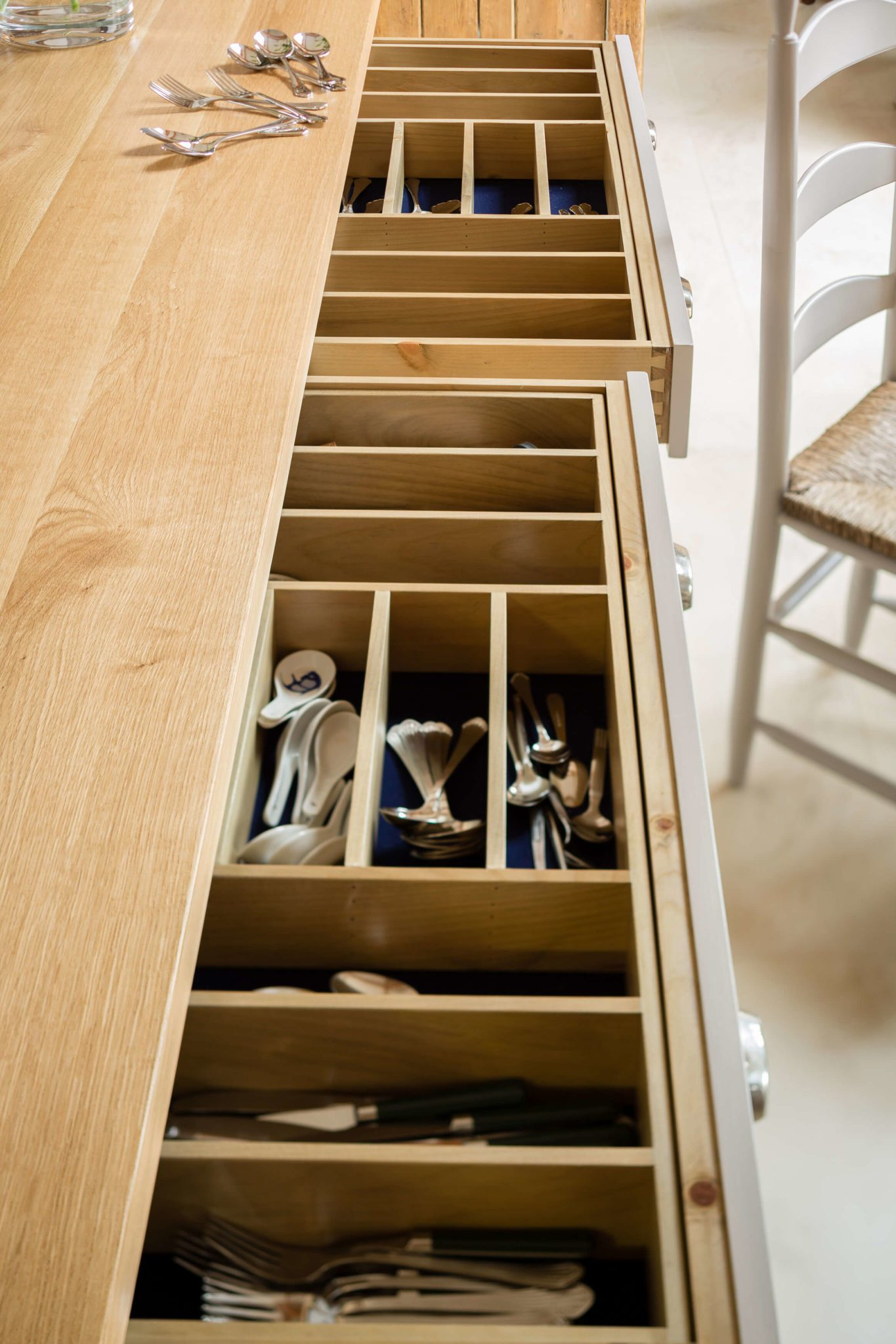 Luxury Kitchen Drawers - Hill Farm Furniture