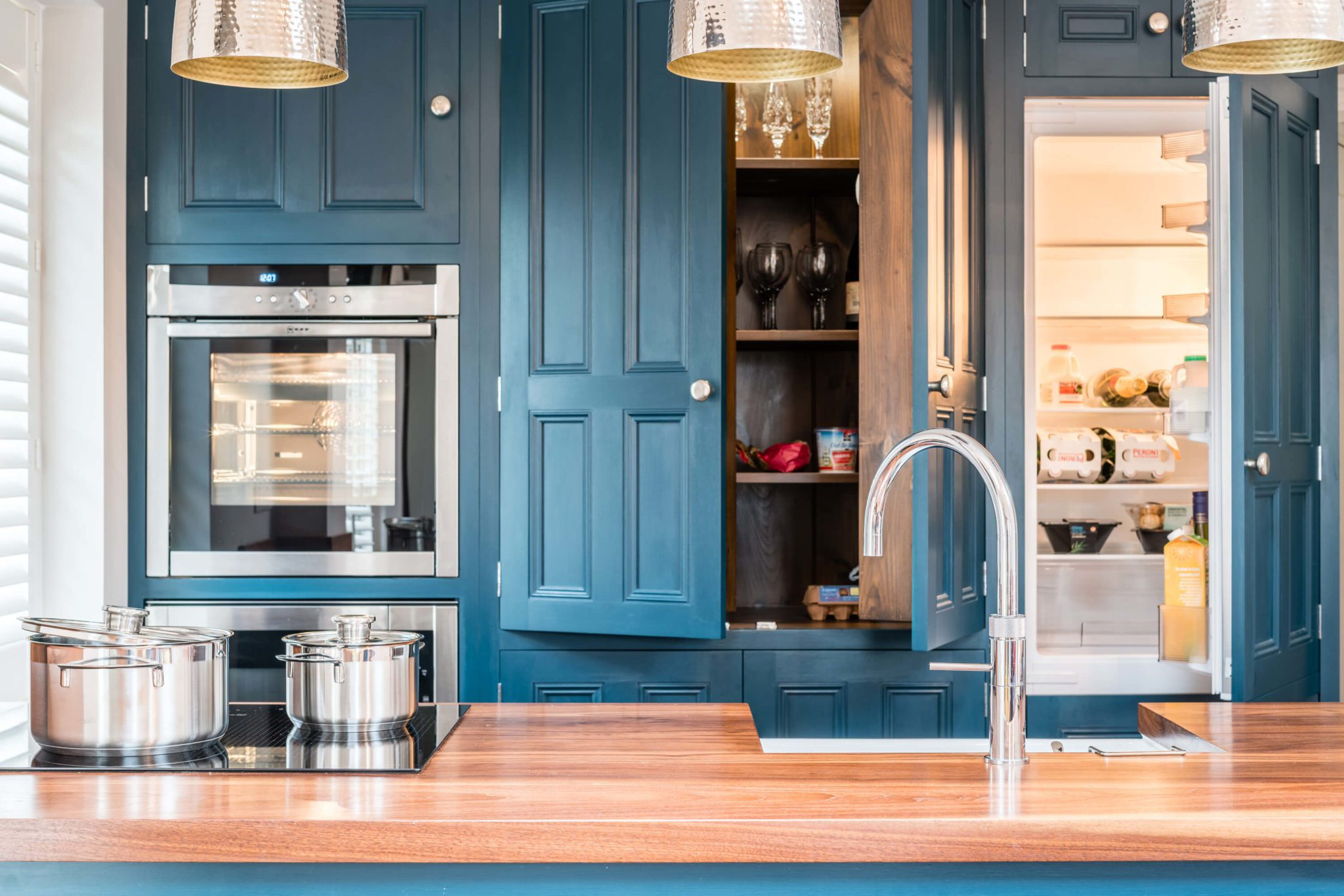 Kitchen Cabinet Blue - Hill Farm Furniture