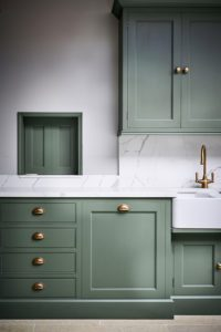 Contemporary country kitchen in green